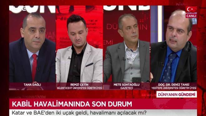 Dünyanın Gündemi - Remzi Çetin   Mete Sohtaoğlu   Deniz Tansi   4 Eylül 2021